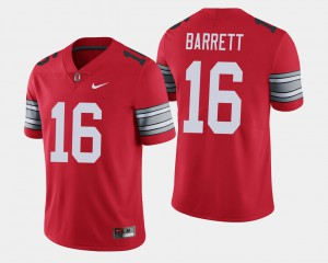 Ohio State #16 For Men J.T. Barrett Jersey Scarlet 2018 Spring Game Limited College 837430-292