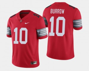 OSU #10 For Men Joe Burrow Jersey Scarlet 2018 Spring Game Limited High School 793148-352