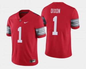 Ohio State #1 For Men Johnnie Dixon Jersey Scarlet Official 2018 Spring Game Limited 126023-887