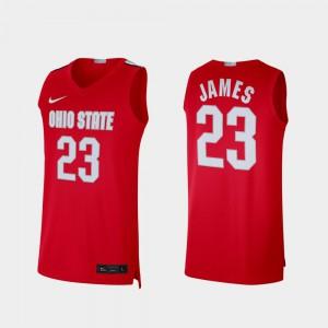 Ohio State #23 Mens LeBron James Jersey Scarlet Alumni Limited Player 853592-654