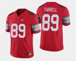 Ohio State Buckeyes #89 Men's Luke Farrell Jersey Scarlet NCAA 2018 Spring Game Limited 824252-928