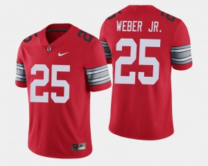 Ohio State Buckeyes #25 Men's Mike Weber Jersey Scarlet 2018 Spring Game Limited Player 885431-985