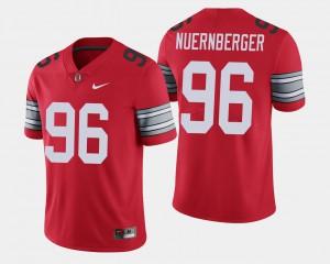 OSU Buckeyes #96 Mens Sean Nuernberger Jersey Scarlet 2018 Spring Game Limited Player 508051-500