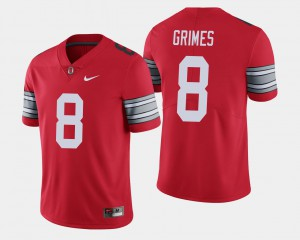 OSU Buckeyes #8 For Men's Trevon Grimes Jersey Scarlet NCAA 2018 Spring Game Limited 183466-124