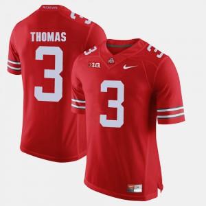 OSU #3 Men Michael Thomas Jersey Scarlet Alumni Football Game College 946830-961