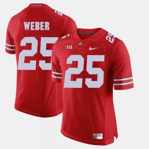 Ohio State Buckeye #25 Mens Mike Weber Jersey Scarlet Alumni Alumni Football Game 995539-206