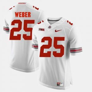 Ohio State Buckeyes #25 For Men Mike Weber Jersey White Alumni Football Game NCAA 511721-310