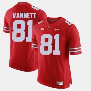 Ohio State Buckeyes #81 For Men's Nick Vannett Jersey Scarlet Alumni Alumni Football Game 559915-489