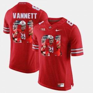 Ohio State #81 For Men Nick Vannett Jersey Scarlet Pictorial Fashion Stitched 918630-614