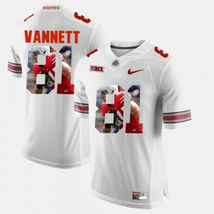 Ohio State Buckeye #81 For Men Nick Vannett Jersey White Pictorial Fashion Embroidery 812799-983