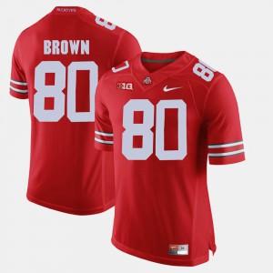 Ohio State #80 Men's Noah Brown Jersey Scarlet Stitch Alumni Football Game 524996-922