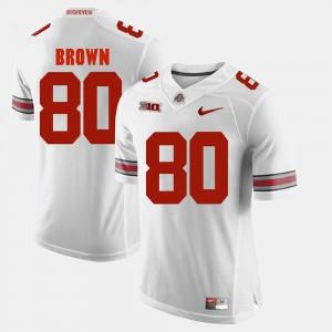 OSU Buckeyes #80 For Men Noah Brown Jersey White Stitch Alumni Football Game 898606-992