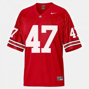Ohio State #47 For Men's A.J. Hawk Jersey Red University College Football 334470-450