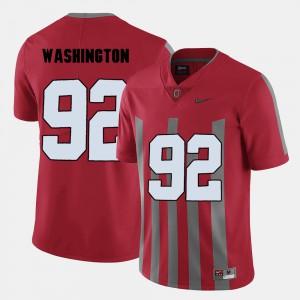 OSU Buckeyes #92 For Men's Adolphus Washington Jersey Red College Football NCAA 842642-657
