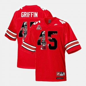Ohio State Buckeyes #45 Mens Archie Griffin Jersey Scarlet NCAA Throwback 845152-192