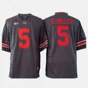 Buckeyes #5 For Men's Braxton Miller Jersey Gray Stitched College Football 754924-418