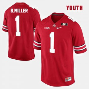 Ohio State #1 Kids Braxton Miller Jersey Red College Football College 472654-694