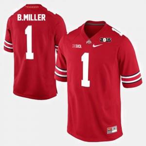 Ohio State #1 Men Braxton Miller Jersey Red College Football College 817916-196