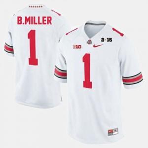 OSU Buckeyes #1 For Men Braxton Miller Jersey White College Football Player 336869-880