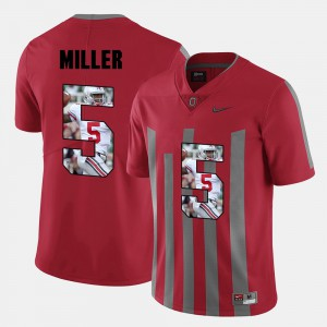 Ohio State #5 For Men's Braxton Miller Jersey Red Pictorial Fashion Alumni 710967-627