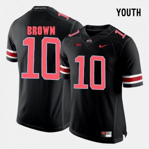 OSU #10 For Kids CaCorey Brown Jersey Black Embroidery College Football 570976-808
