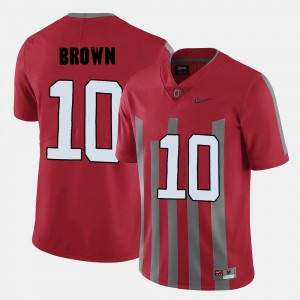 OSU Buckeyes #10 For Men CaCorey Brown Jersey Red NCAA College Football 762297-724