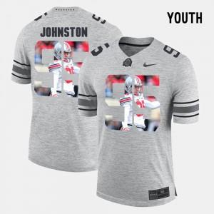 OSU #95 Youth Cameron Johnston Jersey Gray Pictorial Gridiron Fashion Pictorital Gridiron Fashion Embroidery 550830-943