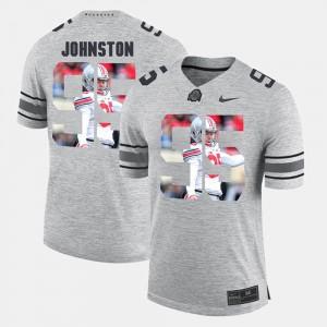 Ohio State #95 For Men Cameron Johnston Jersey Gray Pictorial Gridiron Fashion Pictorital Gridiron Fashion NCAA 413908-949