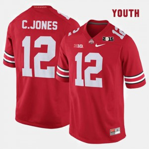 OSU #12 Kids Cardale Jones Jersey Red Embroidery College Football 657873-283
