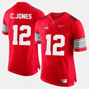 OSU Buckeyes #12 Men's Cardale Jones Jersey Red College Football Official 621584-398