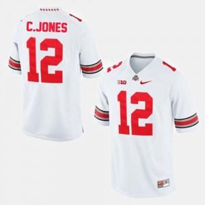 Buckeyes #12 For Men Cardale Jones Jersey White College Football High School 829751-751