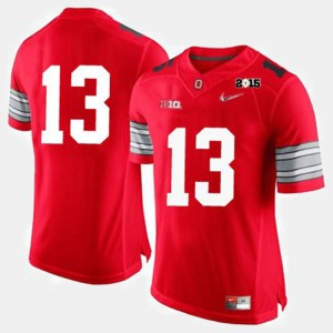 Buckeye #13 For Men Jersey Red College College Football 760850-732