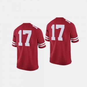 Ohio State Buckeyes #17 Men's Jersey Scarlet NCAA College Football 127099-401