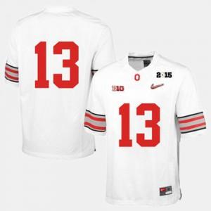 OSU #13 Men Jersey White College Football College 123532-725