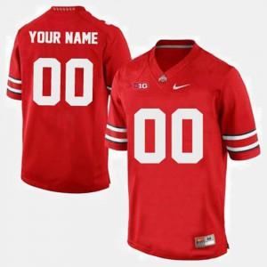 Ohio State #00 Men Custom Jerseys Red College Football University 544496-231