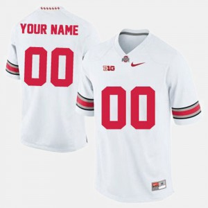 OSU Buckeyes #00 For Men Customized Jersey White College Football High School 213854-568