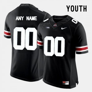 Ohio State Buckeyes #00 Youth(Kids) Customized Jersey Black Official College Limited Football 864953-611
