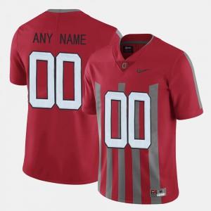 OSU #00 Mens Custom Jerseys Red Throwback Stitch 721654-770