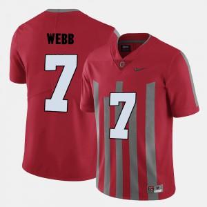 Ohio State Buckeyes #7 Men Damon Webb Jersey Red College College Football 986414-511
