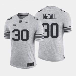 Buckeyes #30 For Men's Demario McCall Jersey Gray NCAA Gridiron Gray Limited Gridiron Limited 210888-653
