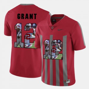 OSU #12 For Men's Doran Grant Jersey Red Embroidery Pictorial Fashion 829613-507