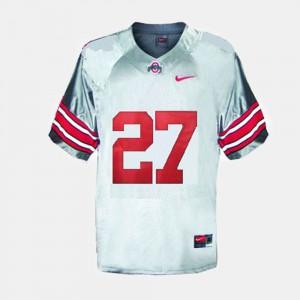 Buckeyes #27 Men's Eddie George Jersey Gray Embroidery College Football 365787-603