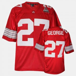 Ohio State Buckeyes #27 Men Eddie George Jersey Red College Football Embroidery 424443-578