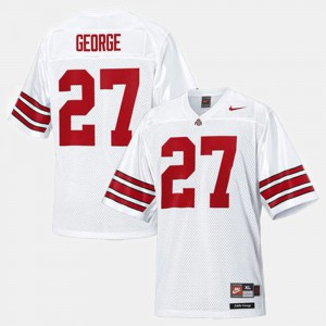 Ohio State Buckeyes #27 Kids Eddie George Jersey White NCAA College Football 755569-267