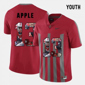Buckeyes #13 Kids Eli Apple Jersey Red Pictorial Fashion Embroidery 347209-410