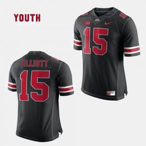 Buckeyes #15 Kids Ezekiel Elliott Jersey Black College Football Official 249788-455