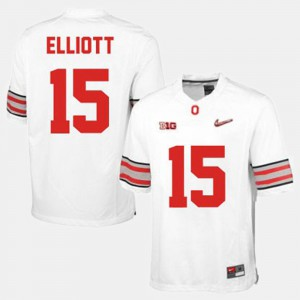 Ohio State Buckeyes #15 For Men Ezekiel Elliott Jersey White College College Football 774480-153