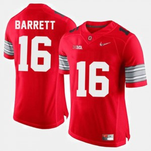 Ohio State Buckeyes #16 For Men's J.T. Barrett Jersey Red Embroidery College Football 936162-641