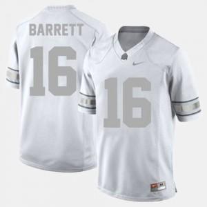 Ohio State Buckeyes #16 Mens J.T. Barrett Jersey White College Football High School 739670-137
