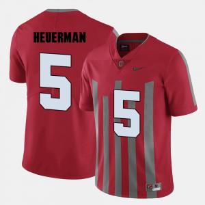 Ohio State #5 Men's Jeff Heuerman Jersey Red College Football Stitch 229796-728